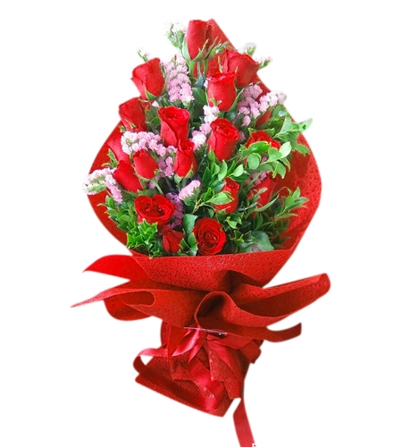 12 Red Roses in Bouquet to Cebu in Philippines Online Gifts to