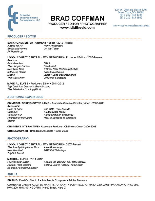 vfx resume samples vfx resume samples download vfx resume samples