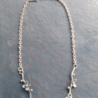 Blossom Sterling Silver Necklace - 49 cm long
