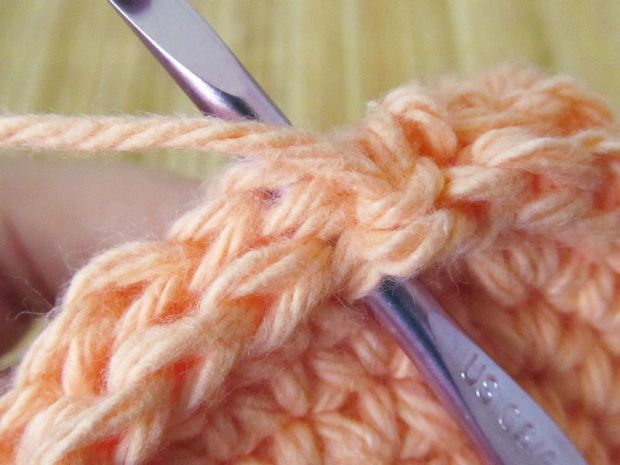 Step 2a: Single crochet through both sides