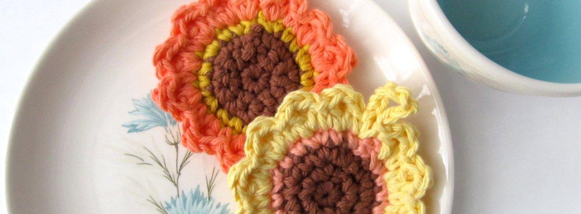 Free Crochet Pattern: Sunflower Tawashi