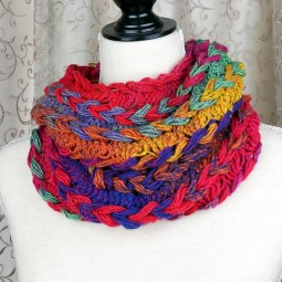 Braided Hairpin Lace Infinity Scarf