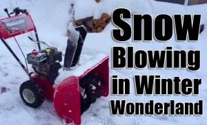 Snow-blower-in-winter-wonderland