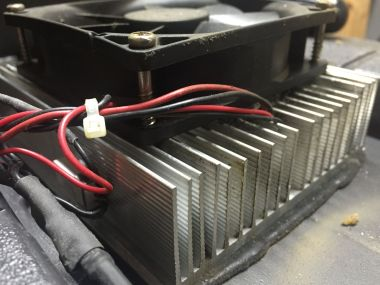 Close up of heatsink