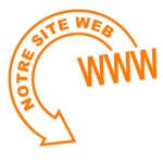 notre site web flèche orange