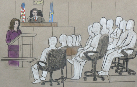 Amy Senser Trial-courtroom sketch 3