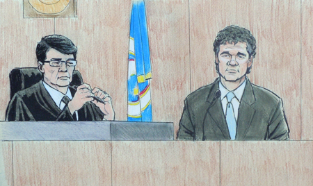 Courtroom sketch - Joe Senser 1