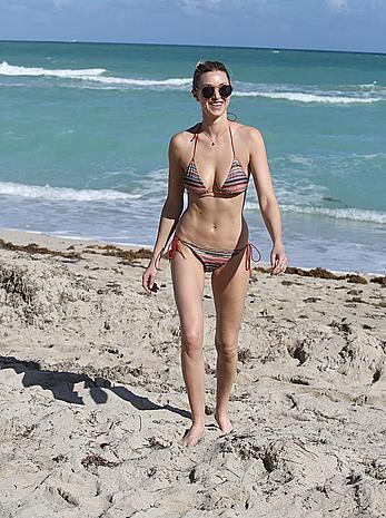 white bikini cleavage