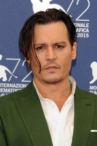 Cele|bitchy | Johnny Depp goes sans scarves for Black ...