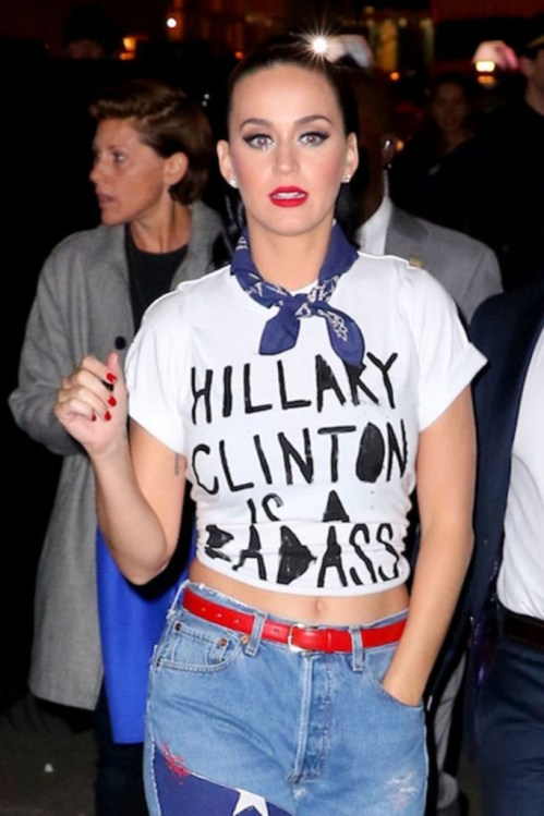 Katy Perry seen at Radio City Music Hall after performing for Hilary Clinton fundraiser in New York