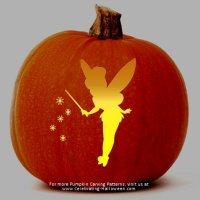 Tinkerbell Fairy Stencil - Free Pumpkin Carving Stencil/Pattern