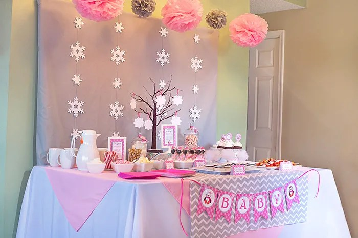 Winter Wonderland Little Penguin Baby Shower Celebration