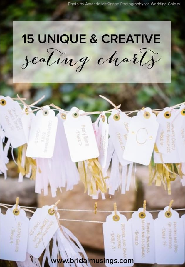 FIFTEEN UNIQUE SEATING CHARTS TO WELCOME YOUR GUESTS - Celebrations