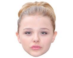 A Cardboard Celebrity Mask of Chloe Moretz