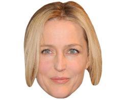 A Cardboard Celebrity Mask of Gillian Anderson