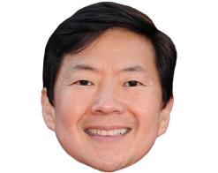 A Cardboard Celebrity Mask of Ken Jeong