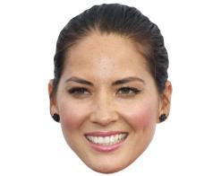 A Cardboard Celebrity Mask of Olivia Munn