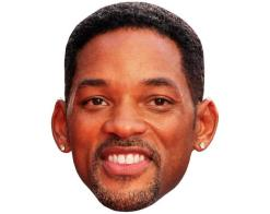 A Cardboard Celebrity Mask of Will Smith