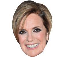 A Cardboard Celebrity Mask of Linda Grey