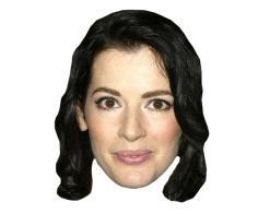 A Cardboard Celebrity Mask of Nigella Lawson