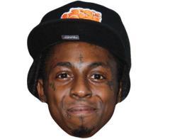 A Cardboard Celebrity Mask of Lil Wayne