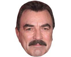 A Cardboard Celebrity Mask of Tom Selleck