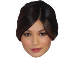 A Cardboard Celebrity Mask of Gemma Chan