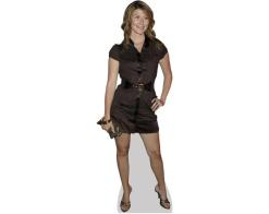 A Lifesize Cardboard Cutout of Jewel Staite wearing a short dress