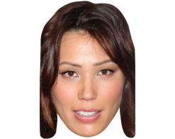 A Cardboard Celebrity Mask of Michaela Conlin
