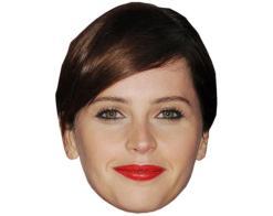 A Cardboard Celebrity Mask of Felicity Jones