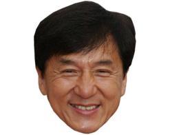 A Cardboard Celebrity Mask of Jackie Chan