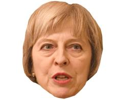 A Cardboard Celebrity Mask of Theresa May