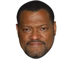A Cardboard Celebrity Mask of Laurence Fishburne