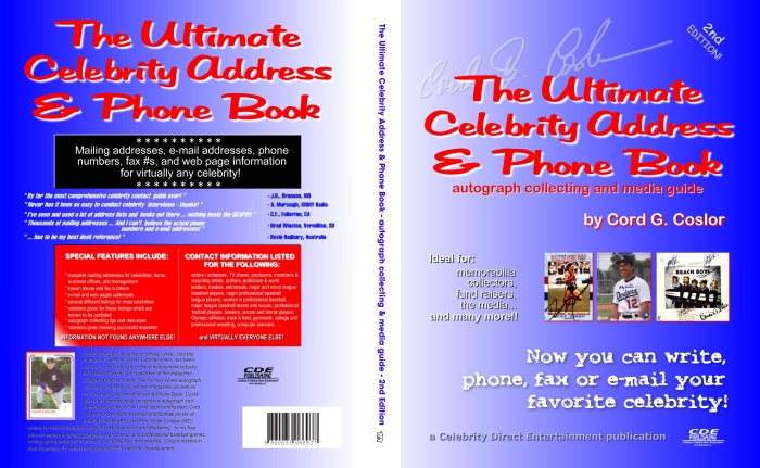 The Ultimate Celebrity Address / Phone Book celebrity addresses - phonebook by address