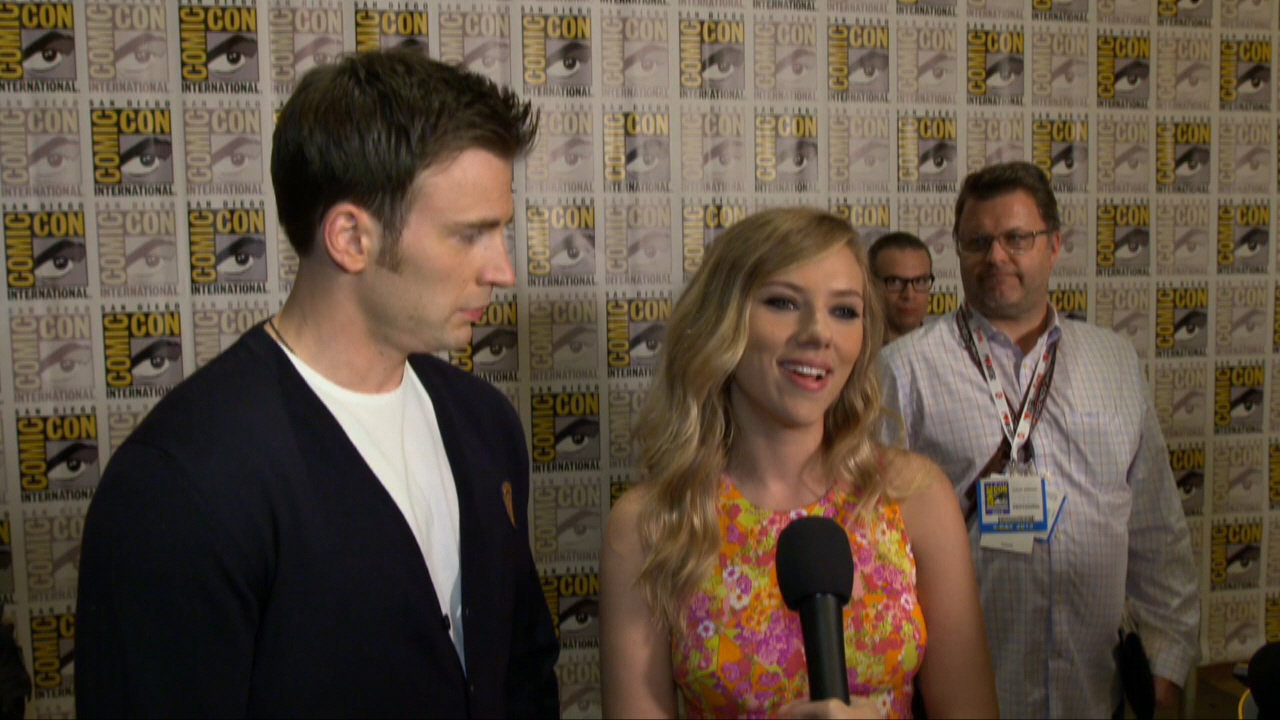 Chris Evans And Scarlett Johansson Talk About Captain
