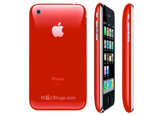 red iphone 3g AZky6 5965