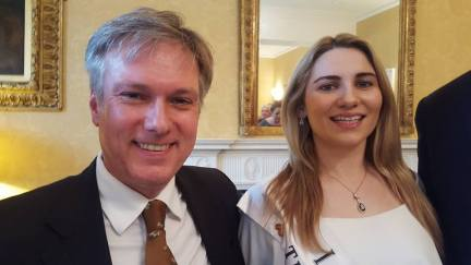 Henry Smith with London Rose, Caoimhe Gallagher