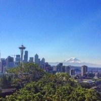Seattle Skyline and Mount Rainier