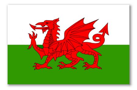 Car Shop Wallpaper Welsh Flag Sticker