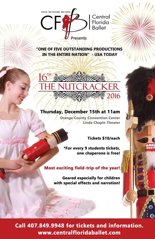 The Nutcracker For Schools \u2014 Central Florida Ballet - pm wells charter academy