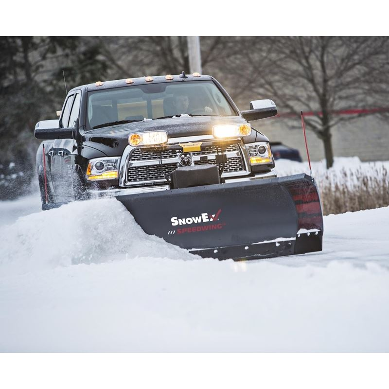 SnowEx 8-10\u0027 Power Plow Expandable Length Straight Blade Snowplow