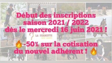 Inscriptions 2021-2022