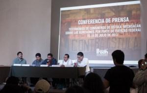 Conferencia de prensa de habitantes de Ostula
