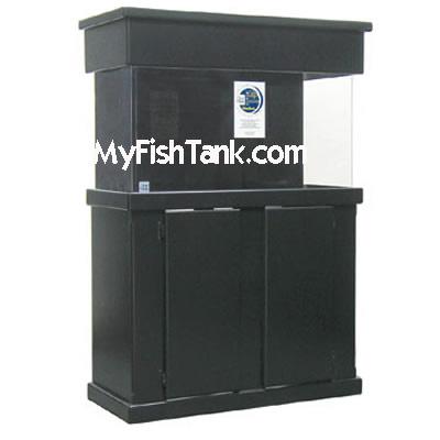 Fish Tank Aquarium Stand and Canopy, Rectangular MDF ES Style