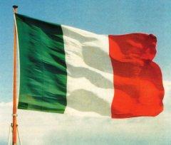L'attuale tricolore della Repubblica Italiana
