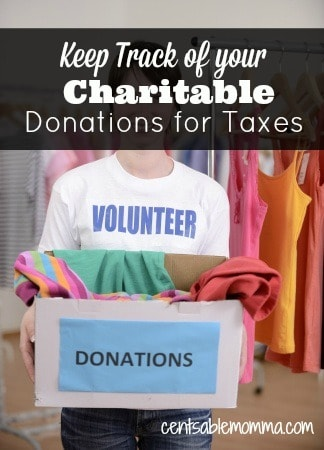 Keep Track of Your Charitable Donations for Taxes - Centsable Momma