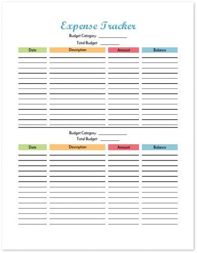 Budget Binder Printable How To Organize Your Finances - money expense tracker
