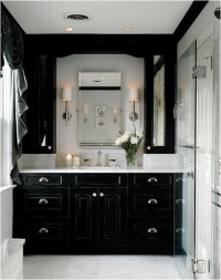 Bathrooms With Black Cabinets | Room Ornament
