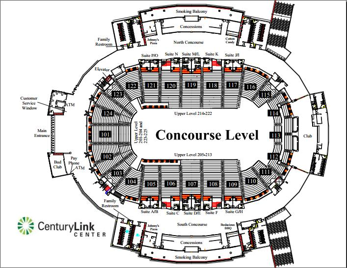 Centurylink Center Seating Diagram - Block And Schematic Diagrams \u2022