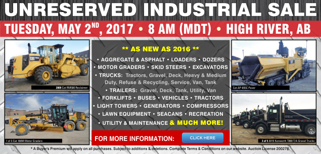 Industrial Sale May 2, 2017